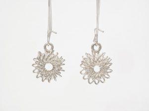 Sterling silver earrings, no.221