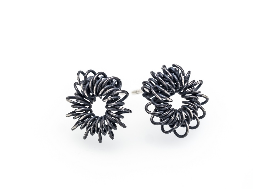 Sterling silver earrings, no.219