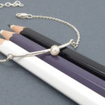 Sterling silver bracelet with natural pearl
