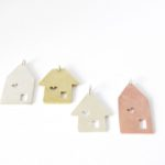 Sterling silver, brass and copper house pendant