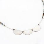 Sterling silver necklace with amozonite