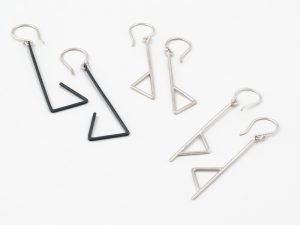 Oxidized silver earrings, no.510 Silver earring, no.507 Silver earrings, no. 509