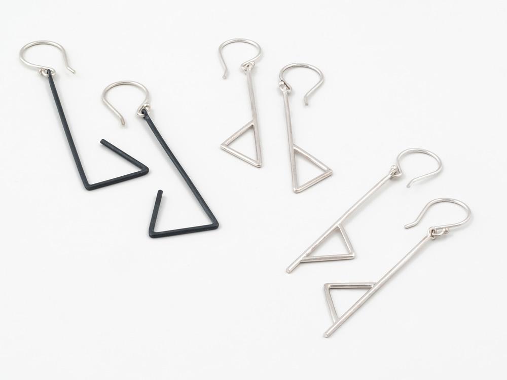 Oxidized silver earrings, no.510 Silver earring, no.507 Silver earrings, no. 509