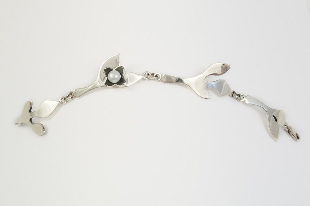 Bracelet en argent sterling et perle, no 405