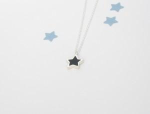 Pendentif étoile en argent sterling et résine, no 339