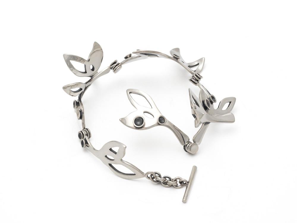 Bracelet en argent sterling, pièce unique